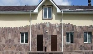 Отделка фасадов камнем плитняком от К-групп фото