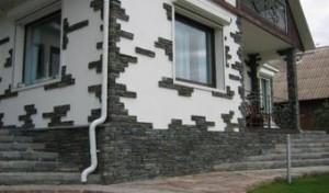 Природный камень для отделки фасадов фото