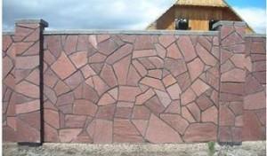 Строительство заборов из натурального камня фото