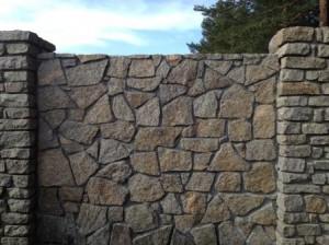 Забор из природного камня гранита от к-групп фото
